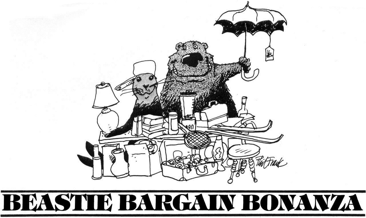 Beastie Bargain Bonanza. Art by Phil Frank