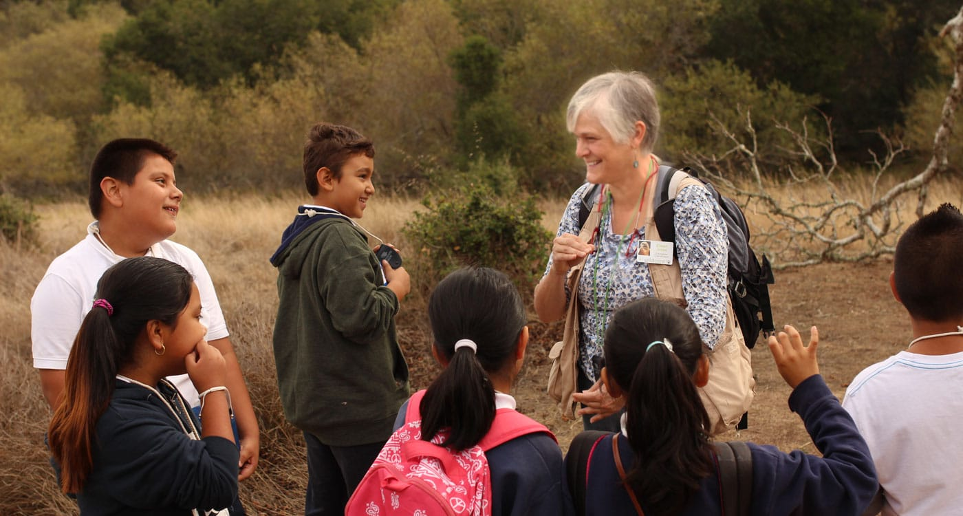Leading a Nature Guide Hike. Photo by Tory Russell